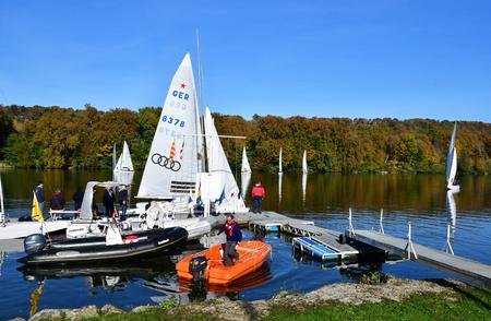 Les Mureaux, France - october 31 2016 : the Seine riverside