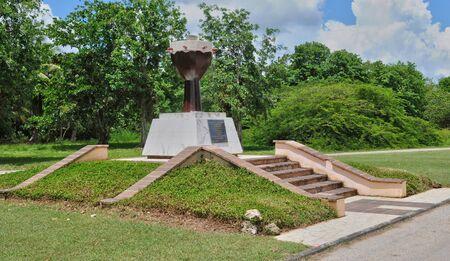 esclavo: Guadalupe, Petit Canal, Francia - 10 de mayo de 2010: el monumento esclavo