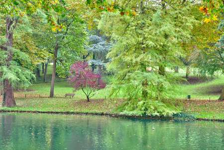 Poissy; France - october 26 2016 : the picturesque Messonier park