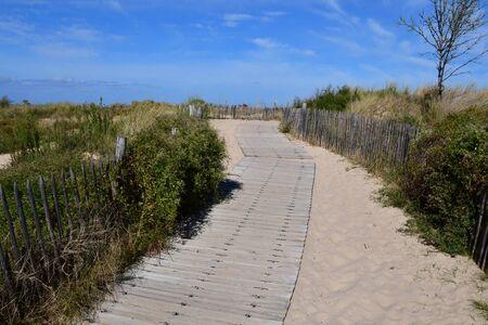 Les Portes en Re, France - september 26 2016 : the Trousse Chemise beach Editorial