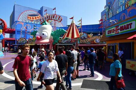 san fernando valley: Los Angeles, Hollywood, USA - july 16 2016 : the Universal studios park Editorial