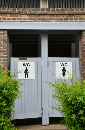 Ry, France - june 23 2016 : a public urinal Editorial