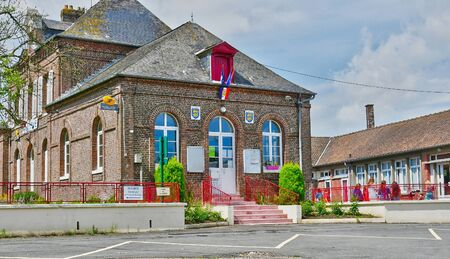 city hall: Sommery, France - june 23 2016 : the city hall