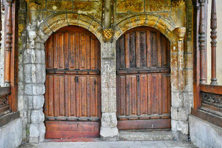 ry: Ry, France - june 23 2016 : the picturesque church Editorial