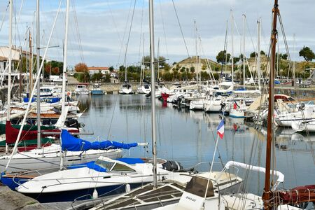 're: Saint Martin de Re, France - september 27 2016 : boats in the port Editorial