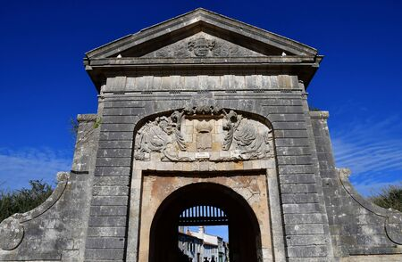 saint martin: Saint Martin de Re, France - september 26 2016 : the Porte des Campani Stock Photo