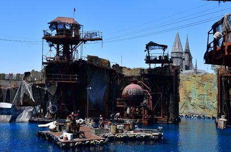 Los Angeles, Hollywood, USA - july 16 2016 : the Universal studios park Editorial