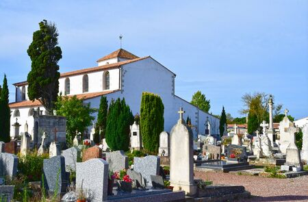 funerary: Loix, France - september 26 2016 : the cemetery Editorial