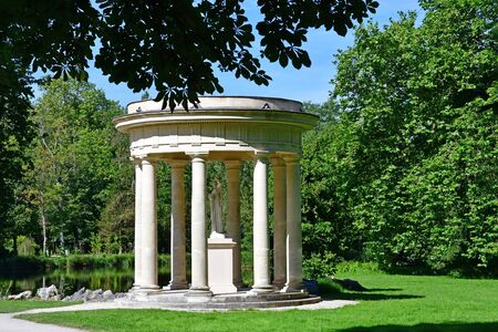 chantilly: Chantilly, France - august 14 2016 : Venus temple in the park of the castle of Chantilly Editorial