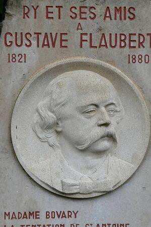 ry: Ry, France - june 23 2016 : the Gustave Flaubert stele