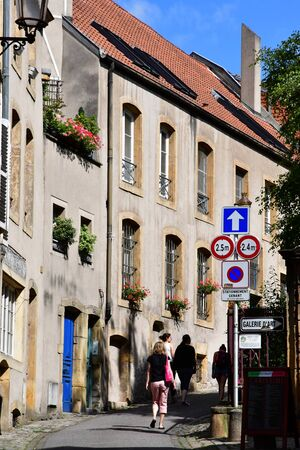 Metz, France - july 25 2016 : the picturesque old city in summer