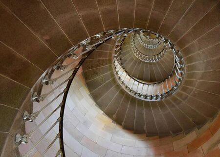 're: Saint Clement des Baleines, France - september 26 2016 : the lighthouse stairs Editorial