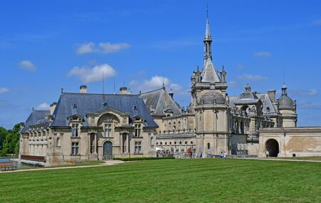 chantilly: Chantilly, France - august 14 2016 : the castle of Chantilly Stock Photo
