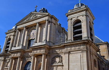 Versailles, France - august 13 2016 : the cathedral Notre Dame Editorial