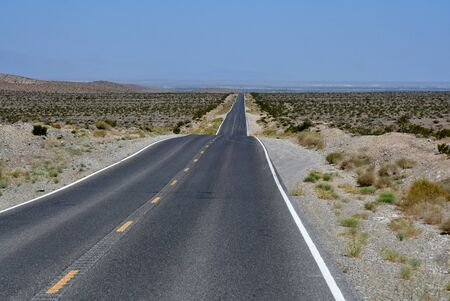Las Vegas, USA - july 11 2016 : a road in the desert
