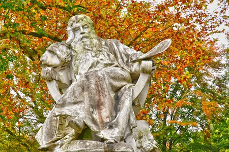 Poissy; France - october 26 2016 : the picturesque Messonier park Editorial