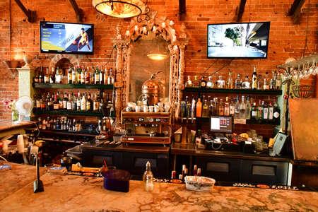 Santa Barbara, USA - july 15 2016 : a bar in the city center