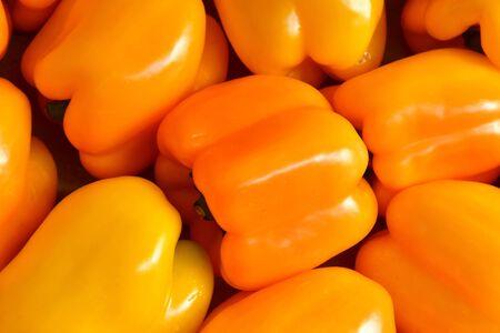 sur: Verneuil sur Seine; France - october 16 2016 : orange pepper at the market in automn