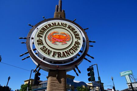 San Francisco; USA - july 13 2016 : the picturesque fishermans wharf