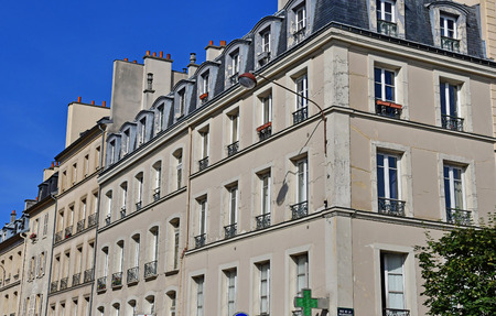 Versailles, France - august 13 2016 : the picturesque Notre Dame district in the city center