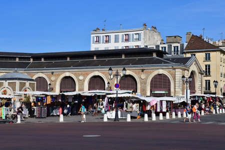 Versailles, France - august 13 2016 : the picturesque market in summer Editorial