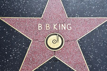 Los Angeles, USA - july 16 2016 : the walk of fame in Hollywood boulevard
