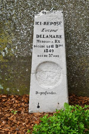 ry: Ry, France - june 23 2016 : the Eugene Delamare tomb Editorial