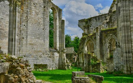 touristy: Jumieges, France - june 22 2016 : the Saint Pierre abbey Editorial