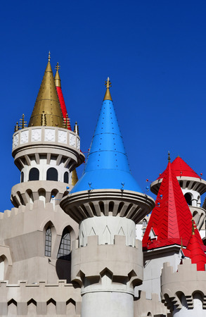 Las Vegas, USA - july 11 2016 : the picturesque Excalibur hotel