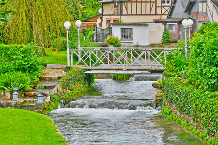 ry: Ry, France - june 23 2016 : the picturesque village in summer Editorial