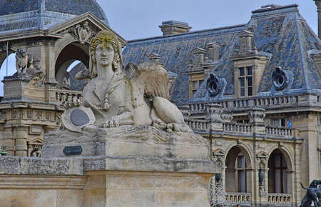 chantilly: Chantilly, France - august 14 2016 : the castle of Chantilly Editorial