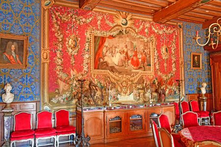 Thoiry, France - august 16 2016 : the Thoiry castle