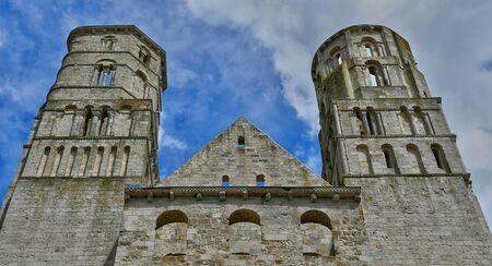 Jumieges, France - june 22 2016 : the Saint Pierre abbey Editorial