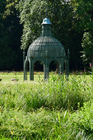 chantilly: Chantilly, France - august 14 2016 : park of the castle of Chantilly
