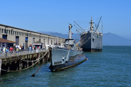 touristy: San Francisco; USA - july 13 2016 : the maritime national historical park