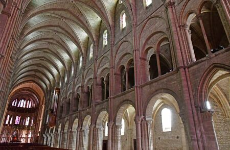 picturesque: Reims, France - july 26 2016 : the Saint Remi basilica Editorial