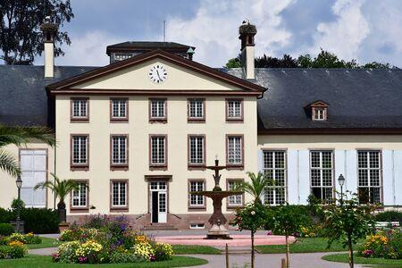 picturesque: Strasbourg, France - july 24 2016 : Pavillon Josephine in the Orangerie park in summer