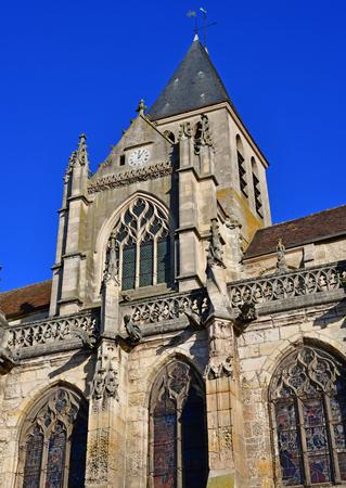 Triel sur Seine, France: the historical Saint Martin church Stock Photo