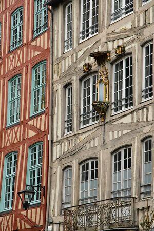 26: Rouen, France - november 26 2016 : the historical city center in winter