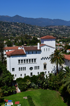 Santa Barbara, USA - july 15 2016 : the picturesque city in summer
