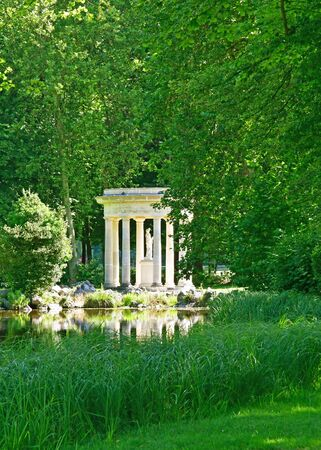 chantilly: Chantilly, France - august 14 2016 : Venus temple in the park of the castle of Chantilly Stock Photo