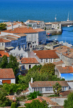 saint martin: Saint Martin de Re, France - september 25 2016 : the picturesque village in the middle of the island