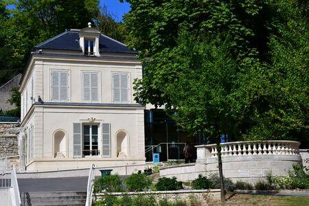 val: Auvers sur Oise , France - august 14 2016 :the tourism office