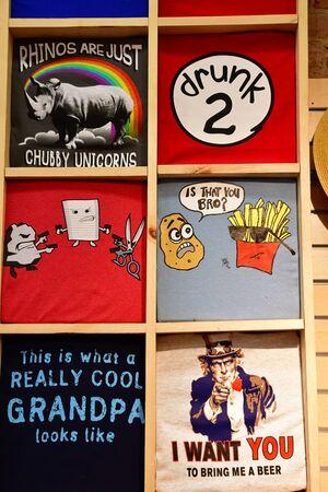 Santa Barbara, USA - july 15 2016 : a cloth shop