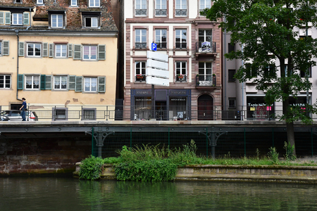 Strasbourg, France - july 24 2016 : the picturesque city center in summer