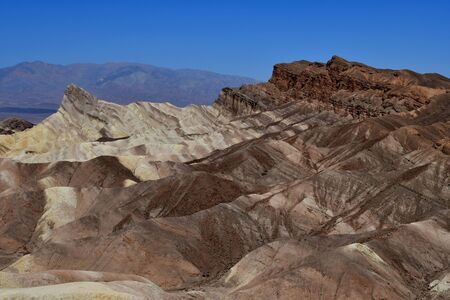 USA - july 11 2016 : Zabriskie Point in the Death Valley National Park Editorial