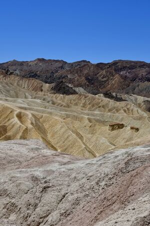 USA - july 11 2016 : Zabriskie Point in the Death Valley National Park Stock Photo