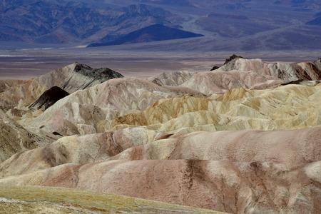 borax: USA - july 11 2016 : Zabriskie Point in the Death Valley National Park Stock Photo
