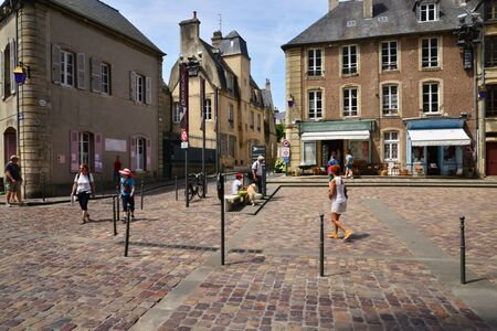 Bayeux; France - july 18 2017 : the historical city center