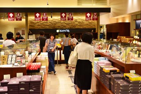 Kanazawa, Japan - august  2017 : the train station shopping center